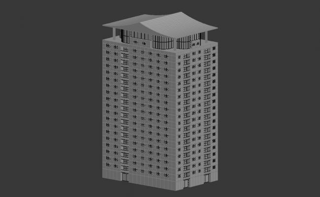Commerce Building Max file 3d model
