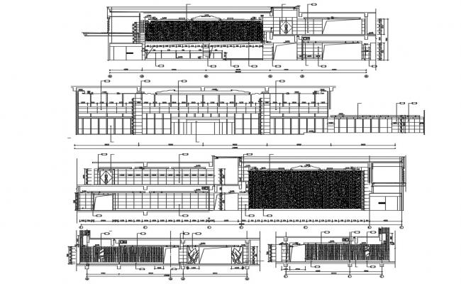 Commerce Building Section Design CAD Drawing