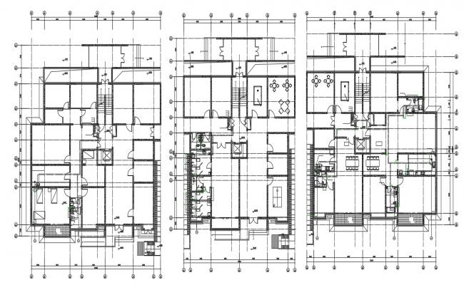 Commerce Building and Apartments Layout Plan