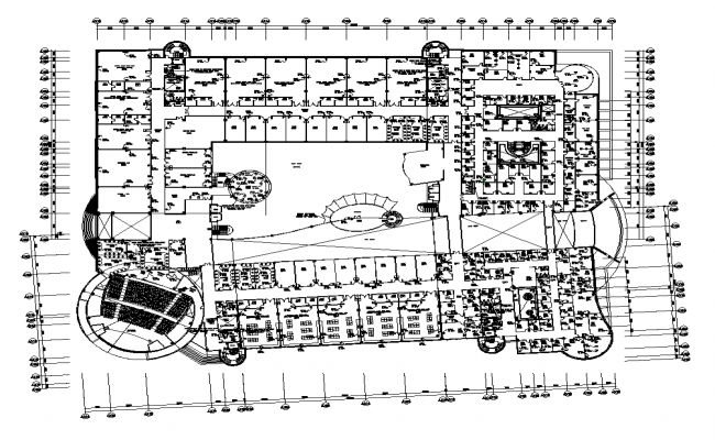 Commerce building detail plan 2d view layout dwg file