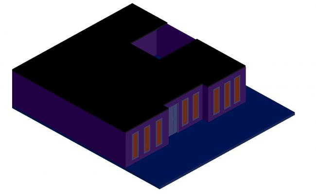 Commercial Building 3d View CAD File Free Download