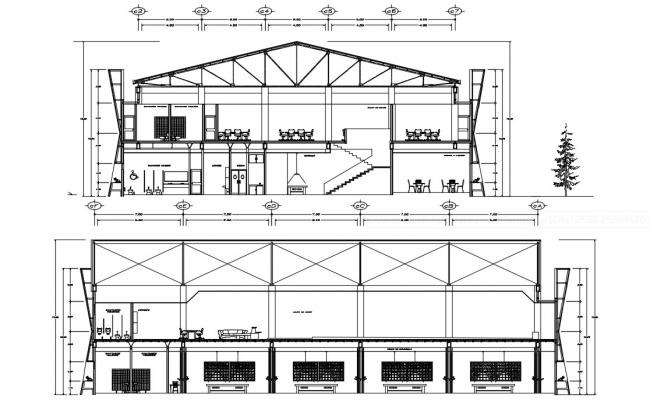 Commercial Building Construction Drawing AutoCAD File Free