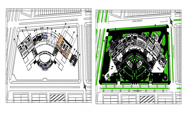 Commercial Building Design CAD File