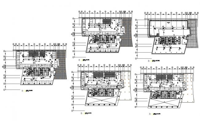 Commercial Building Design Floor Plan AutoCAD File