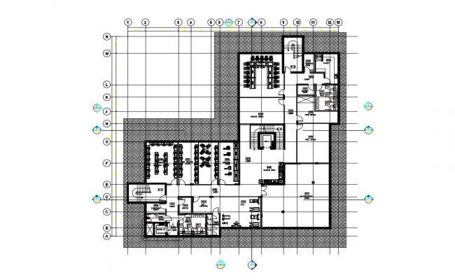 Commercial Building Design Floor Plan DWG Free Download