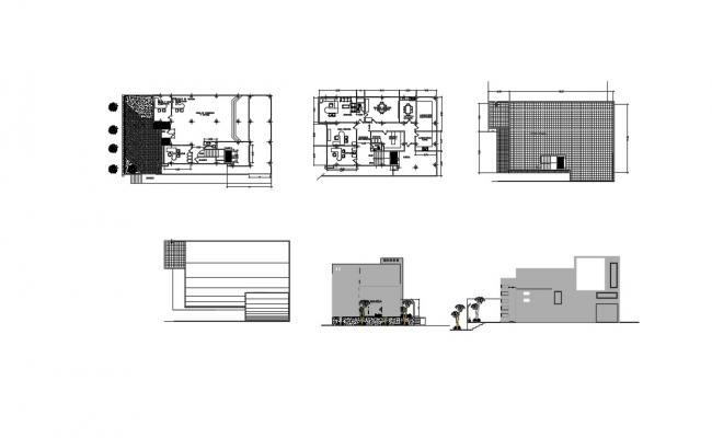 Commercial Building Design Floor Plan In DWG File