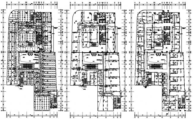 Commercial Building Design Plans AutoCAD File