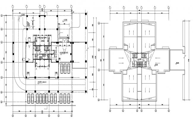 Commercial Building Design Plans With Terrace AutoCAD File Free