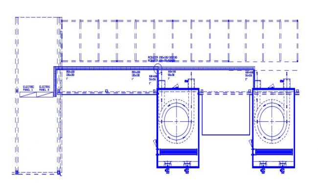 Commercial Building Drawing With Beam AutoCAD File