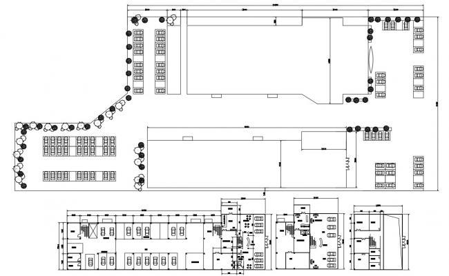 Commercial Building Floor Plan  AutoCAD File