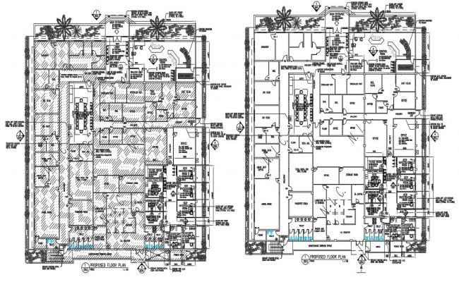 Commercial Building Floor Plan CAD File
