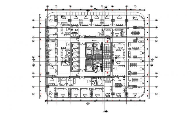 Commercial Building Floor Plan CAD File Free Download