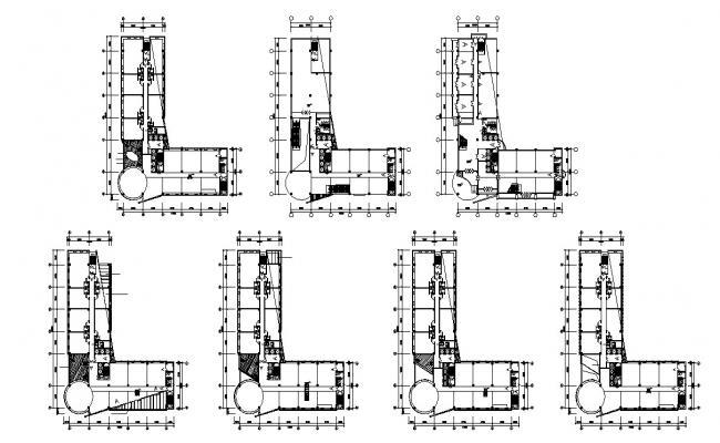 Commercial Building Floor Plan DWG File