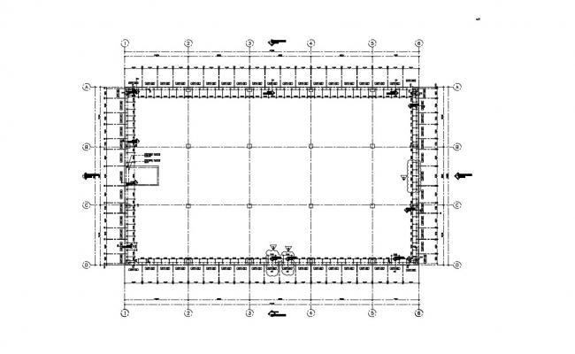 Commercial Building Floor Plan Free CAD File