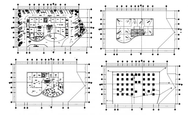 Commercial Building Floor Plan In AutoCAD File