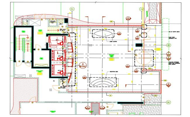 Commercial Building Ground floor Plan