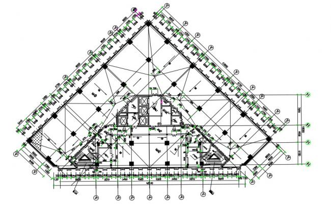 Commercial Building Layout Plan AutoCAD Drawing