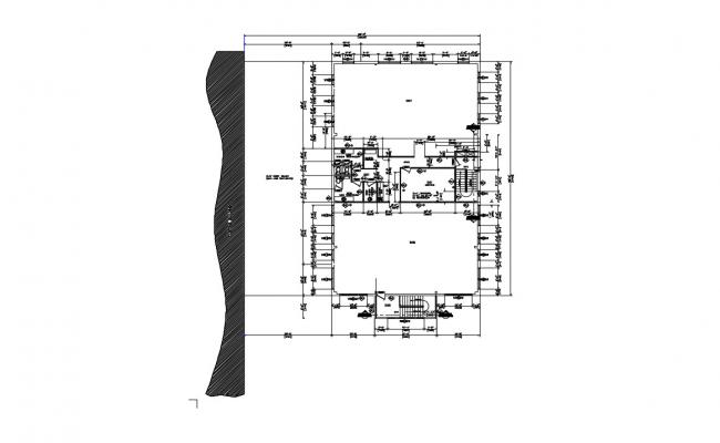 Commercial Building Layout Working Plan design CAD Drawing Download