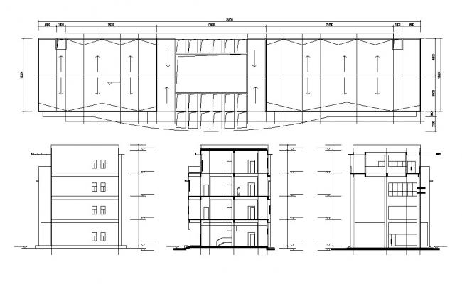 Commercial Building Plan AutoCAD Drawing