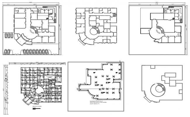 Commercial Building Plan AutoCAD File