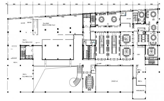 Commercial Building Plan CAD File