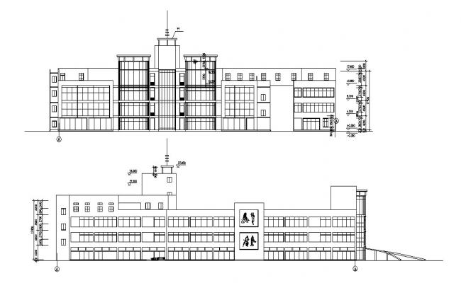 Commercial Building Design DWG File