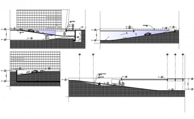 Commercial Building Ramp Section AutoCAD File Free