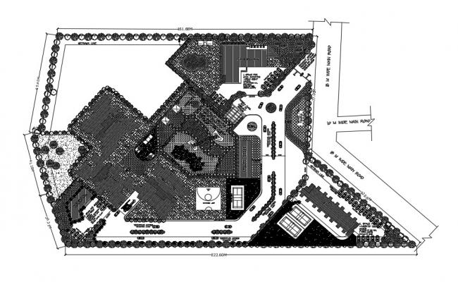 Commercial Building Site Plan In AutoCAD  Drawings