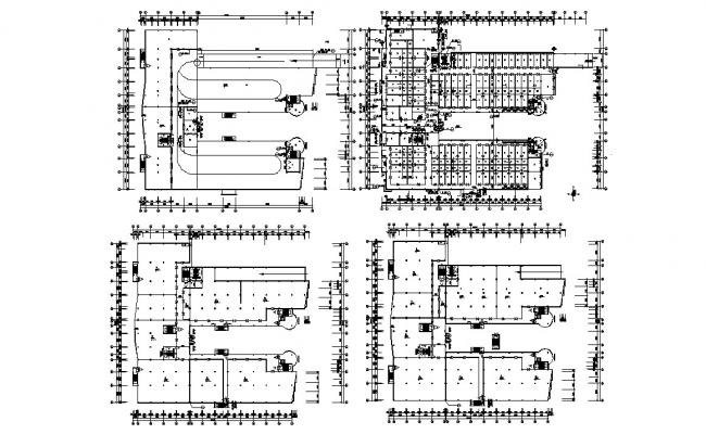 Commercial Building Working Plan CAD Drawing