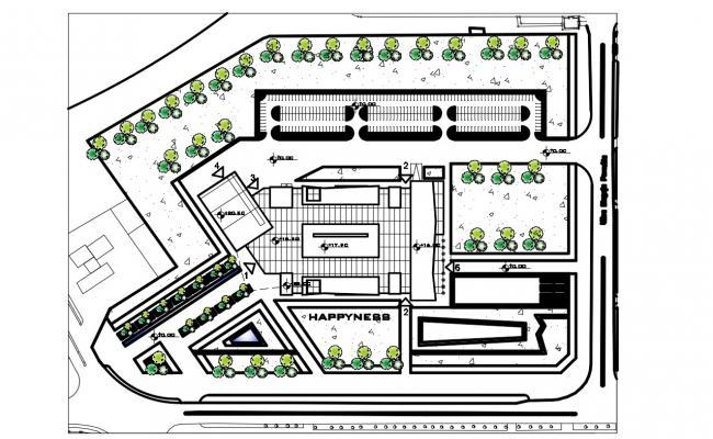 Commercial Building area plan autocad file