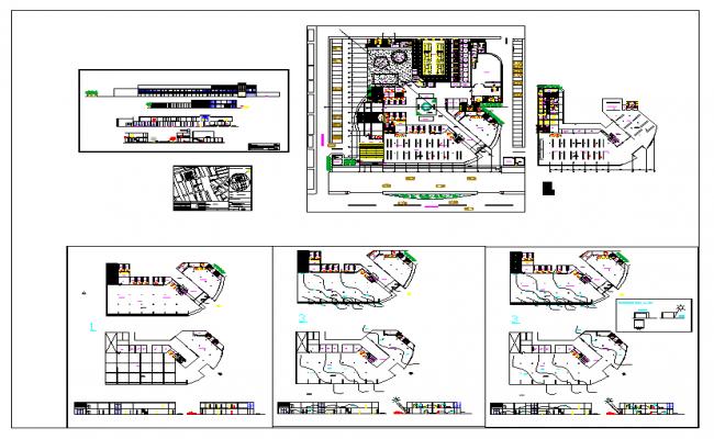 Commercial Complex Architecture Design DWG file