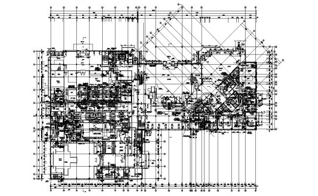 Commercial Complex Floor Plan With Center Line AutoCAD File