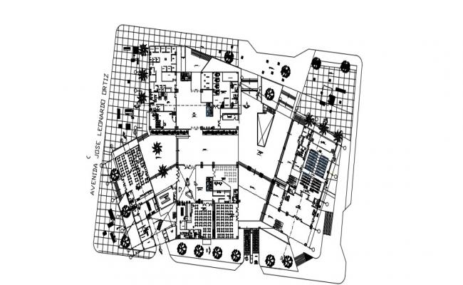 Commercial Complex Plan In DWG File