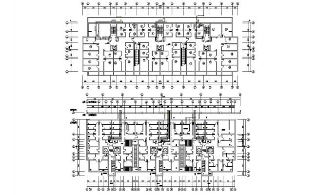 Commercial Floor Plan With Working Drawing 2D CAD File