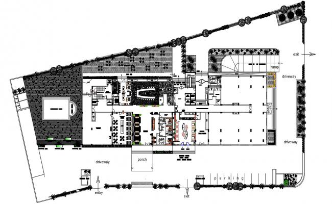 Commercial Ground Floor CAD File Free