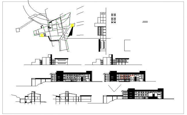 Commercial Hall Design In Cad file.