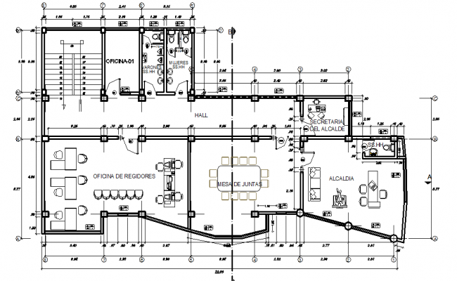 Commercial Layout plan detail dwg file