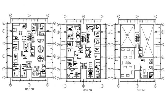 Commercial Office Floor Plan DWG File