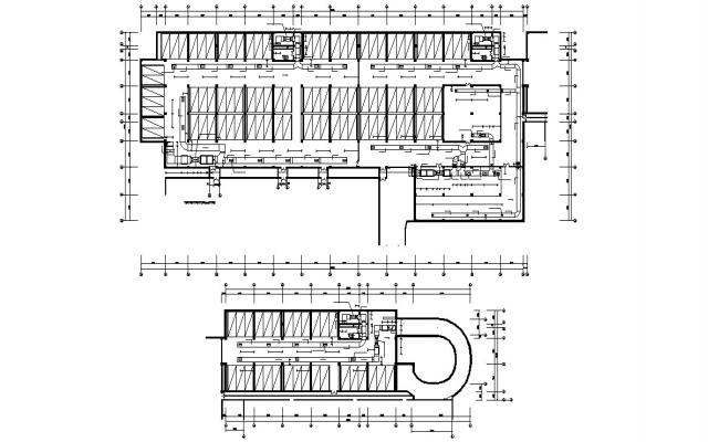 Commercial Parking Layout Plan With Working Drawing AutoCAD File