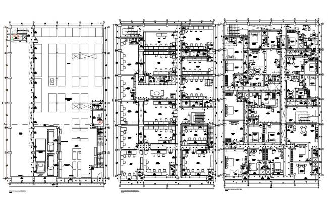 Commercial Residential Building Floor plan CAD Drawing