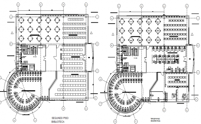 Commercial Round shape column building working plan detail dwg file