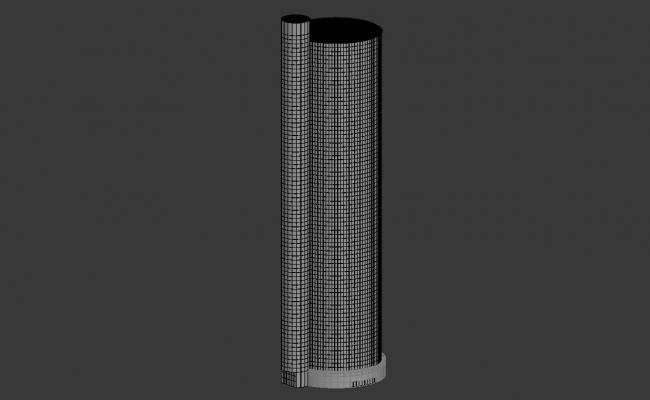 Commercial Tower Shape Building 3d max file