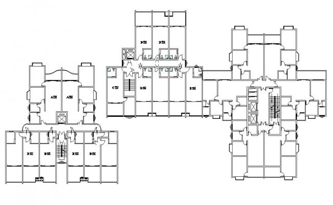 Commercial With Apartment Layout Plan DWG File
