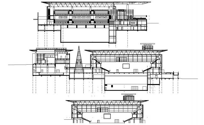 Commercial building AutoCAD Drawing