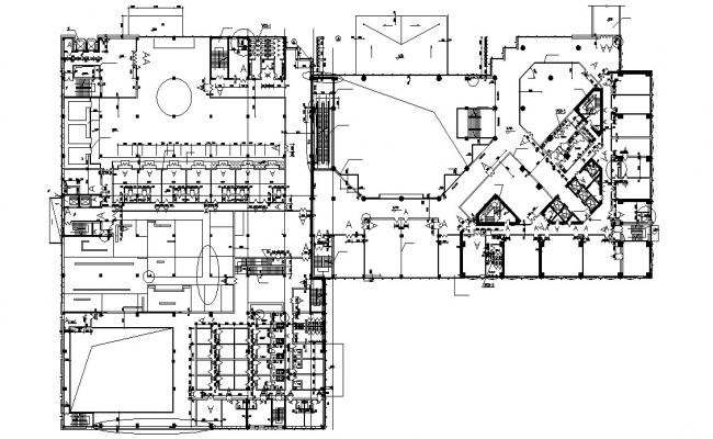 Commercial building CAD Plan