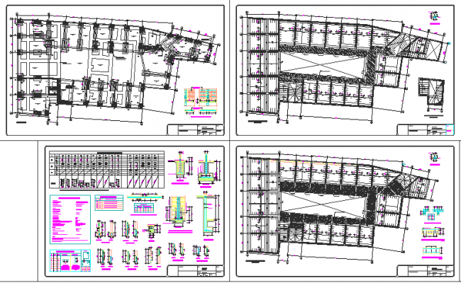 Commercial building complete plan auto-cad details dwg file