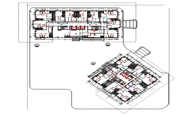 Commercial building detail plan layout file