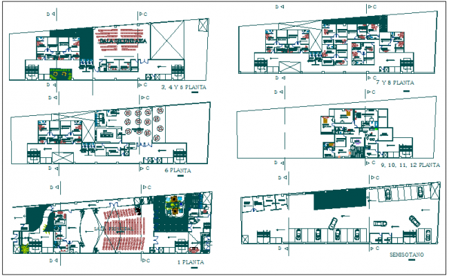 Commercial Building Floor Plan: Commercial Building Floor Plan Detail View Dwg File