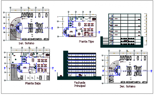 Commercial building floor plan detail view dwg file for Commercial building floor plan