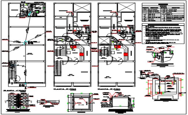 Commercial building plan center line plan detail dwg file